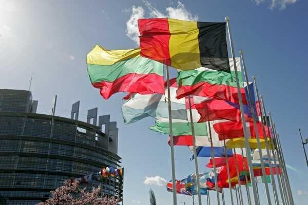 Das EU-Parlamentsgebäude in Strasbourg