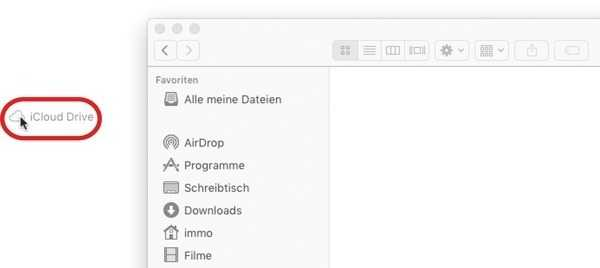 iCloud Drive Seitenleiste