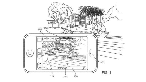 Auszug aus Apple-AR-Patent.