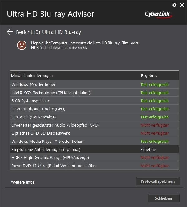 Cyberlink Ultra HD Blu ray Advisor