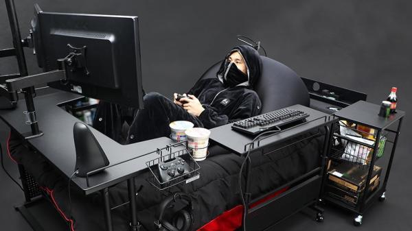 Bauhütte: Gaming-Bett für aufstrebende Spieler ohne Aufstehambitionen