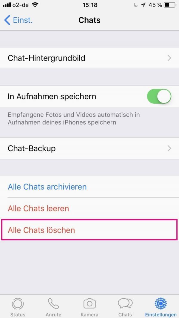 Iphone archivierte whatsapp chats bei löschen WhatsApp Archivierte