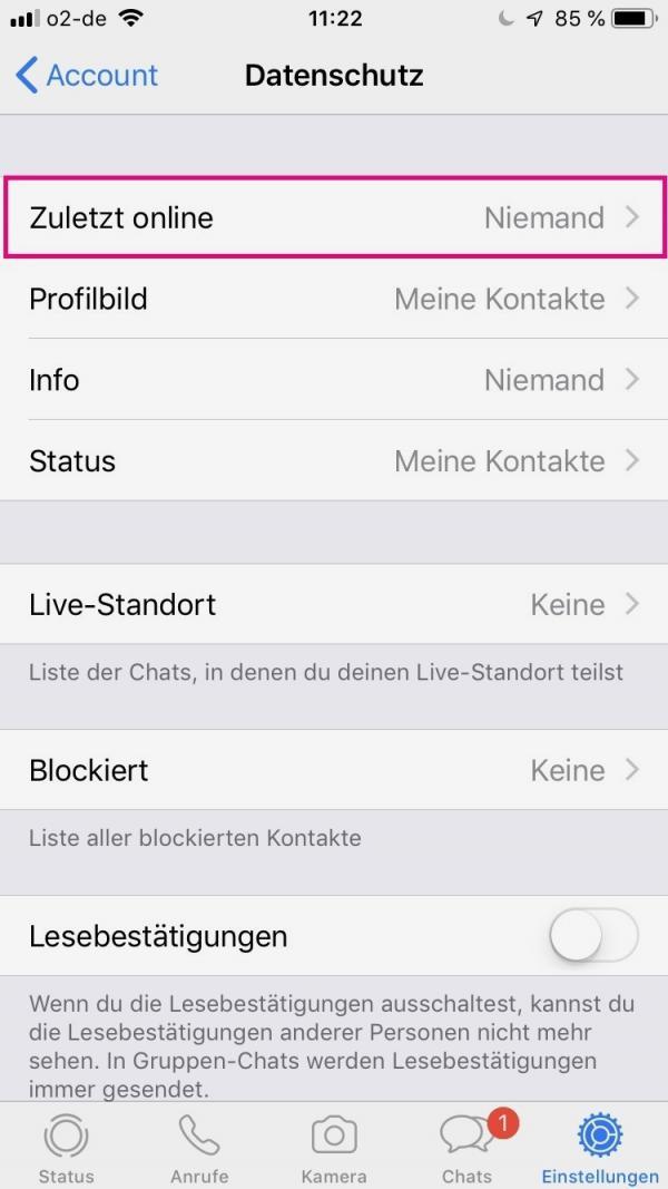 Whatsapp zuletzt online sehen obwohl ausgeschaltet