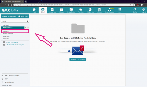 Wiederherstellen anhänge gelöschte gmx e-mail GMX: Gelöschte