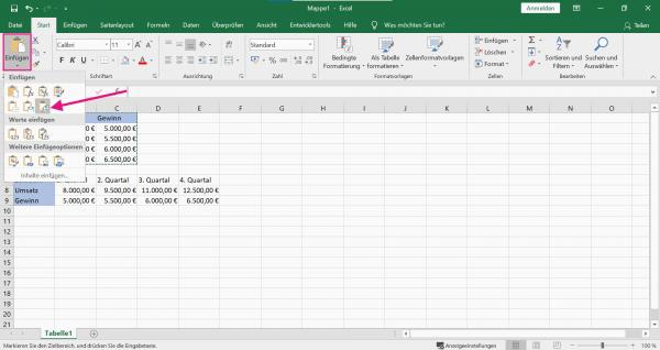 Excel Tabelle Transponieren Zeilen Und Spalten Tauschen