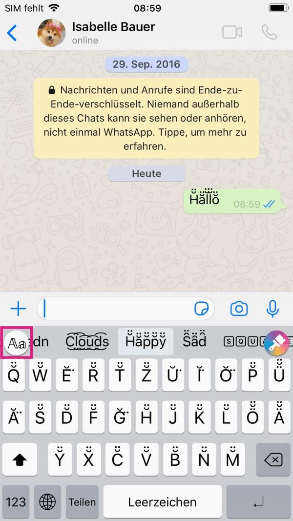 Einspeichern whatsapp namen Wie soll