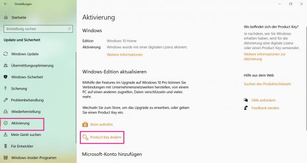 10 aktivierung windows umgehen key Windows 10:
