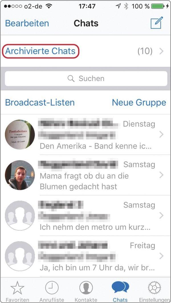 WhatsApp: Chat archivieren – so klappts