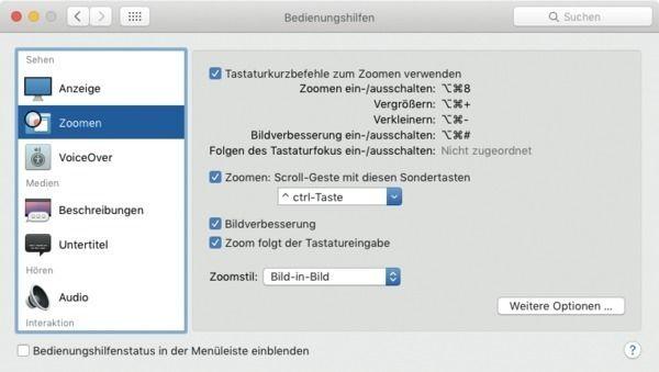 mit tastenkurzel und scrollgeste vergrossert man leicht einen bildschirmausschnitt am mac