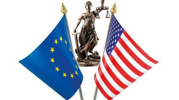 Flagge USA, Flagge Europa