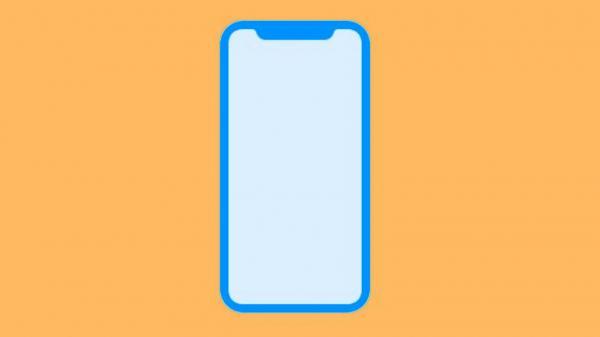 Angeblicher Formfaktor des neuen iPhone-Displays