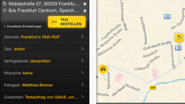 taxi deutschland app reicht bezahlfunktion nach mac i. Black Bedroom Furniture Sets. Home Design Ideas