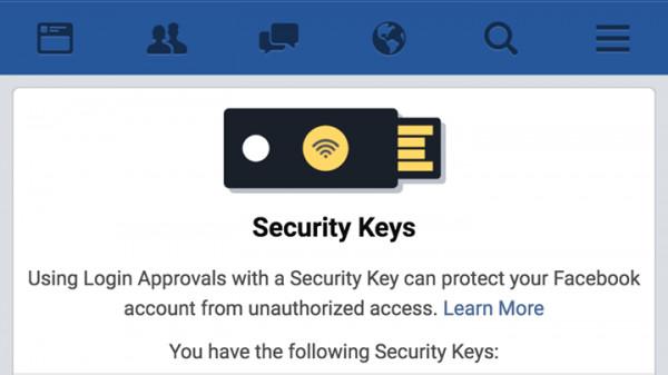 zwei faktor authentifizierung bei facebook per stick sicherer einloggen heise security. Black Bedroom Furniture Sets. Home Design Ideas