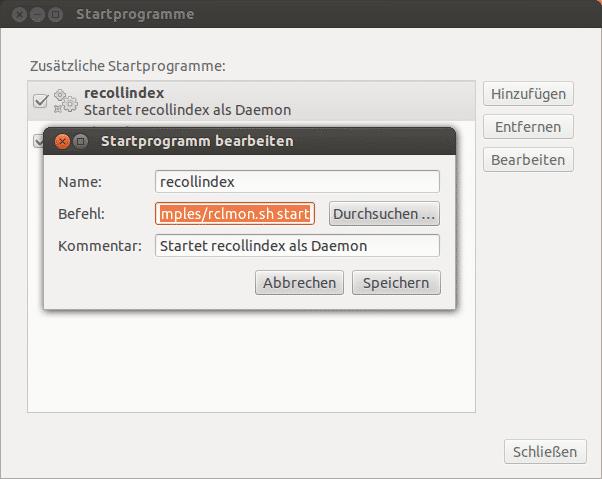 Für den automatischen Start des Daemons in der Session-Verwaltung bringt Recoll ein passendes Script mit.