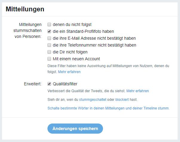 Twitter-Nutzer können nun genauer festlegen, wann sie Mitteilungen bekommen.