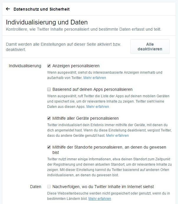 Mehr Transparenz und Kontrolle: Twitter bietet seinen Nutzern nun detaillierte Einstellungen zur Datenerfassung und -verarbeitung.