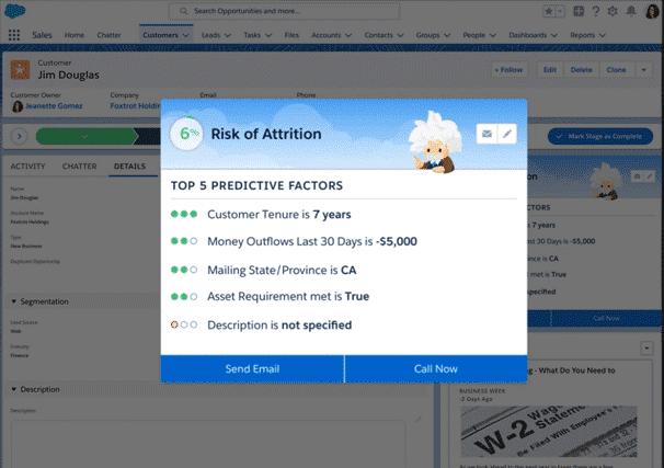 myEinstein ermöglicht das Erstellen von Modellen basierend auf beliebigen Salesforce-Datenfeldern.