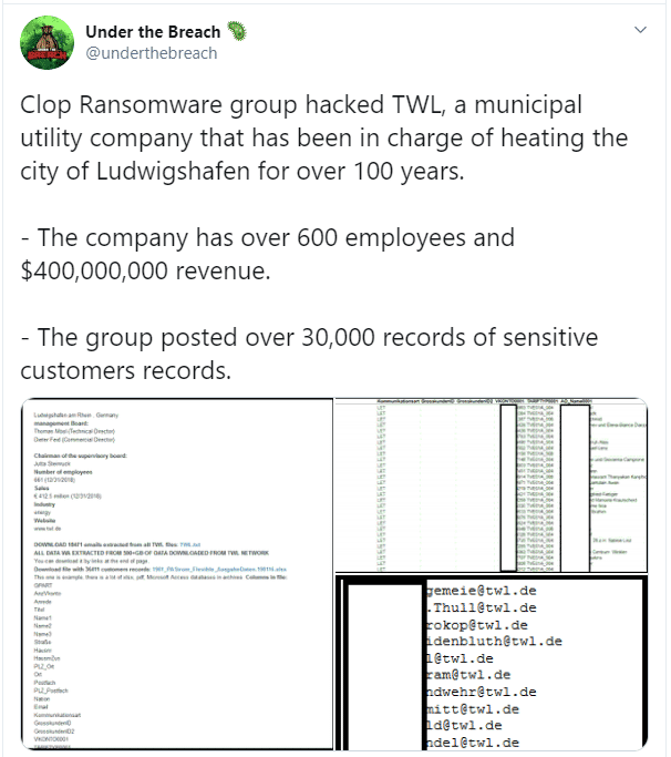 Under the Breach via Twitter