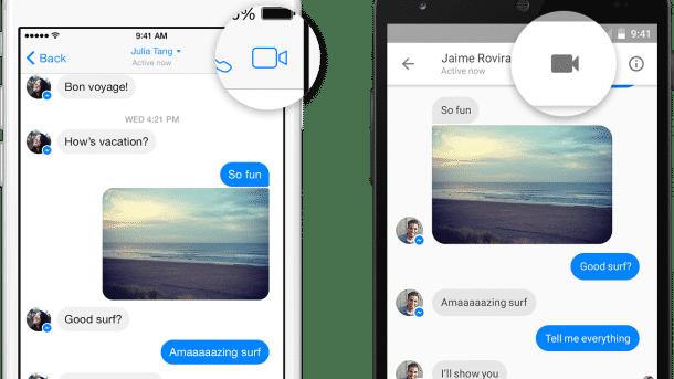 Facebook Messenger kann nun auch in Deutschland Videotelefonie