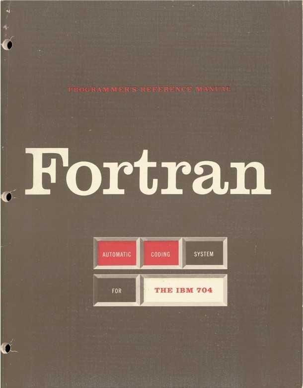 "Deckblatt des ""Fortran Automatic Coding System for  the IBM 704 EDPM"