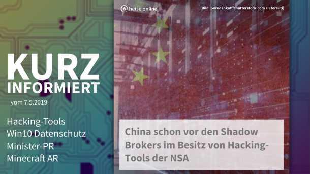 Video: Hacking-Tools, Win10 Datenschutz, Minister-PR, Minecraft AR