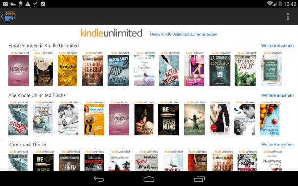 Amazon Führt E Book Flatrate In Deutschland Ein Heise Online