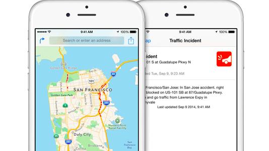 Apple Maps: Weiträumiger Ausfall bei Verkehrsinformationen | heise on