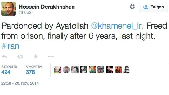 Prominenter iranischer Blogger begnadigt