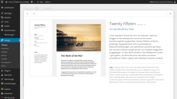 Wordpress-Theme Twenty Fifteen