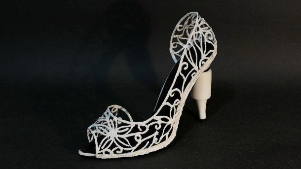 High Heel selbstgedruckt mit dem 3Doodler