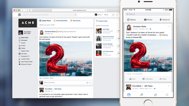 "Facebook testet ""Facebook at Work"""