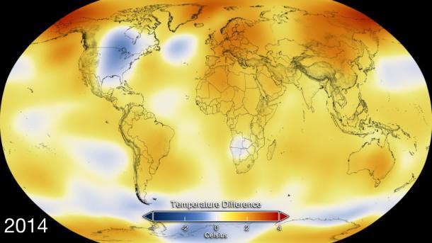 NASA: 2014 war das wärmste Jahr seit beginn der Aufzeichnungen