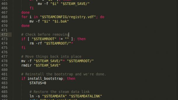 Valve fixt Alles-Löschen-Bug in Steam für Linux