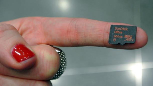MWC: MicroSD-Karte speichert 200 GByte
