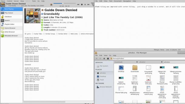 Tiling mit dem Xfce-Windowmanager Xfwm