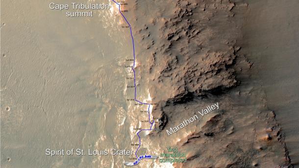 NASA-Rover Opportunity: Ein Marathon auf dem Mars