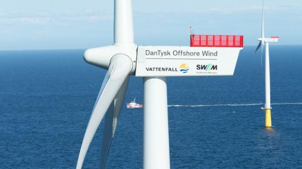Nordsee-Windpark DanTysk geht offiziell ans Netz