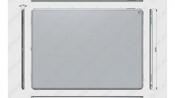 """iPad Pro"" mit Bluetooth-Stylus, Force Touch und USB C"