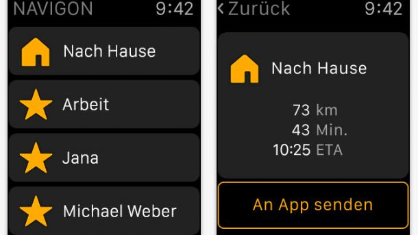 Navigon bringt Apple-Watch-App
