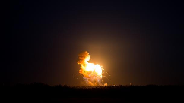 Explosion der Antares-Rakete
