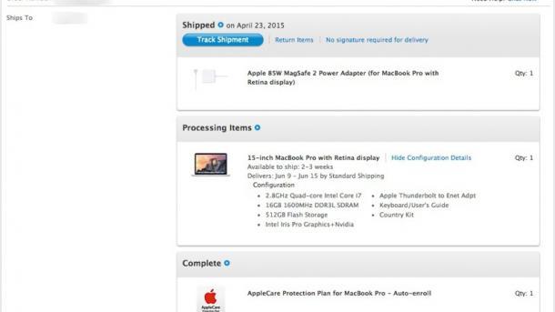 Hoffnung auf neue Modelle: Apple verschiebt Auslieferung von großem MacBook Pro Retina
