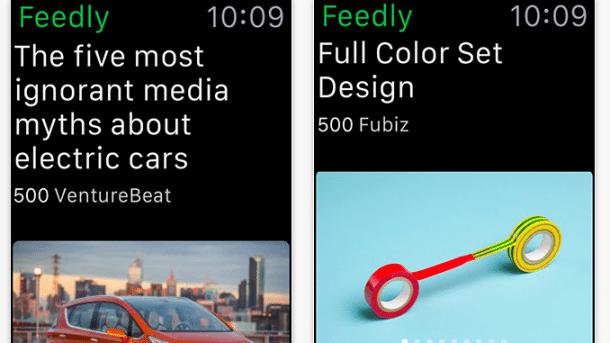 Feedreader Feedly läuft auf der Apple Watch