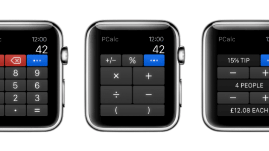 PCalc kommt auf die Apple Watch