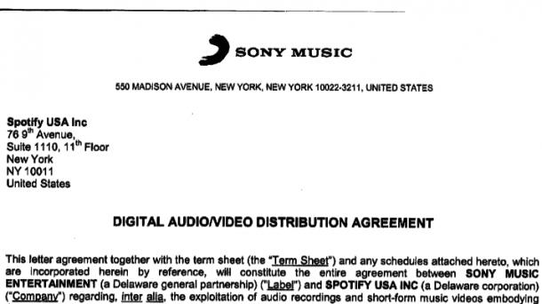 Sony Music Will Peinlichen Vertrag Mit Spotify Unterdrucken Heise
