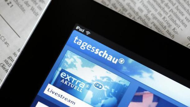 Tageschau App auf  Tablet