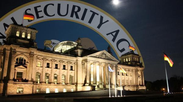 deutscher Bundestag und NSA Logo