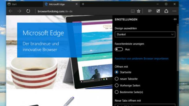 Microsoft Edge mit HTML5-Video statt Silverlight