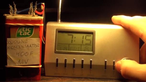Superkondensator und Wecker
