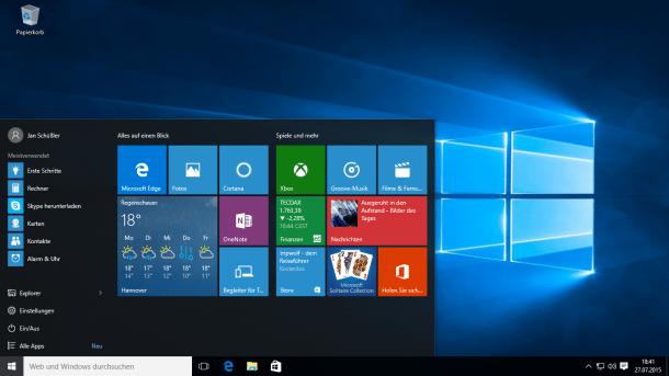 Windows 10-Desktop