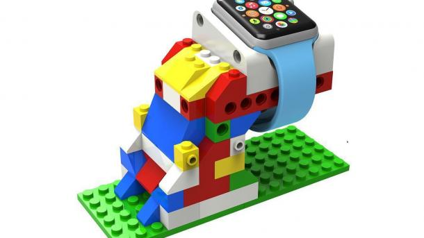 Apple-Watch-Dock im Lego-Stil